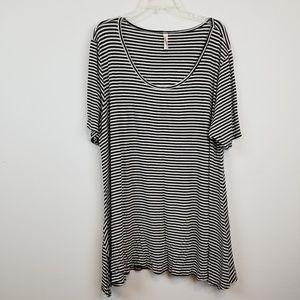 LuLaRoe striped plus size tunic size  3 XL